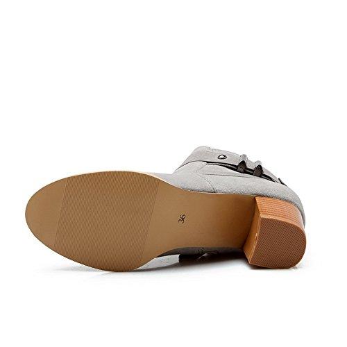 A&N Ladies Classic Solid Business Xi Shi Velvet Boots Gray fg9nBq