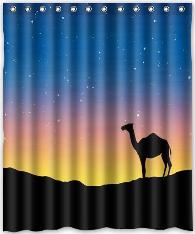 Amazon HOT Design Camel Shower Curtain 60w X 72h Generic
