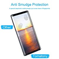[2Pack] Eastoan Samsung Galaxy Note 9 Screen Protector [9H Hardness][Anti-Scratch][Anti-Bubble][3D Curved] [High Definition] Tempered Glass Screen Protector Compatible with Samsung Galaxy Note 9 from Eastoan