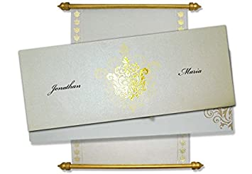 amazon com wedding scrolls box scroll invitations scroll wedding