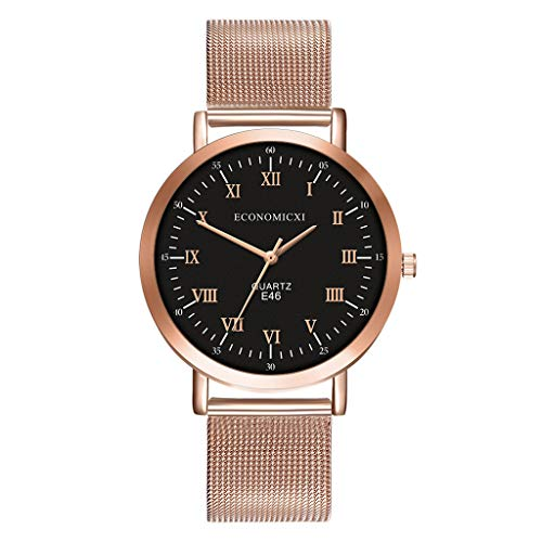 - chenqiu Ladies Rose Gold Watches,Women's Fashion Quartz Analog Watch with Luminous Pointers and Rose Gold Bracelet Waterproof