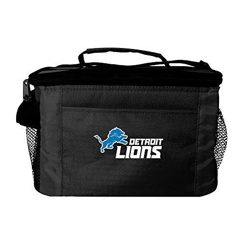 Lions Box Lunch (NFL Detroit Lions Insulated Lunch Cooler Bag with Zipper Closure, Black)