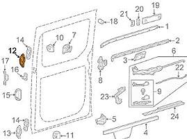 GTV INVESTMENT MB Sprinter 906 - Bloque para puerta corredera izquierda A9067660261: Amazon.es: Coche y moto