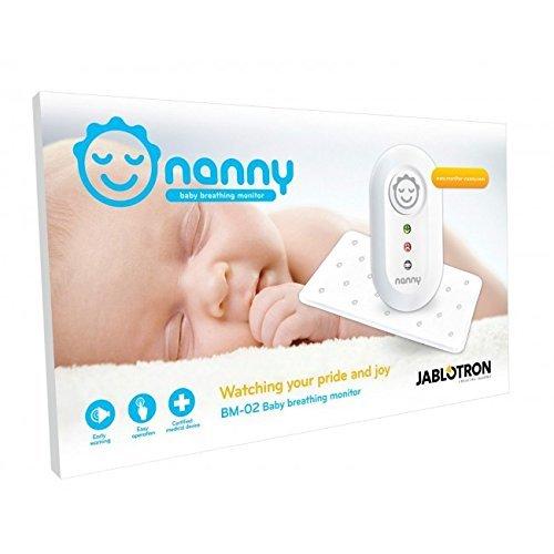 Nanny Monitor - Atmungsüberwachungsgerät für Babys mit 2 Sensormatten! (1 zusätzliche Sensormatte)