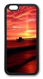 Balboa Pier California TPU Silicone Case Cover for iphone 6 plus 5.5 inch Black
