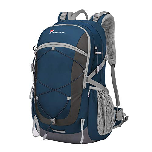 Mountaintop 40 Liter Hiking Backpack With Rain Cover - Thick Padded Straps, Quality Materials.