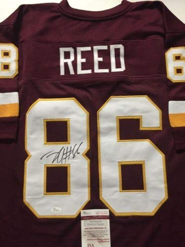 Autographed/Signed Jordan Reed Washington Maroon Football Jersey JSA COA