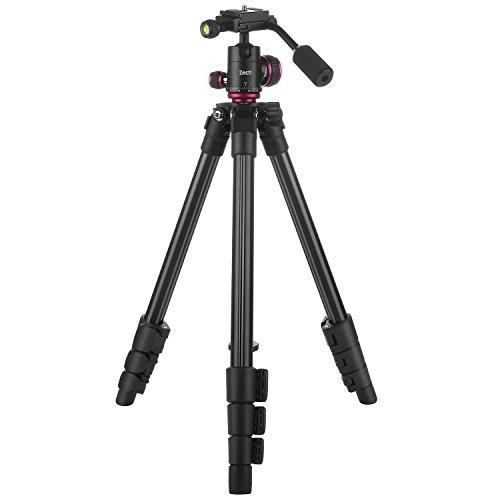 Camera Tripod, Zecti Adjustable Lightweight DSLR Travel Tripod Stand for Video Canon Nikon Sony Samsung Olympus Panasonic Pentax