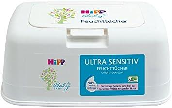 Toallitas húmedas ultrasensibles de Hipp, 1 x 52 paños, con caja ...