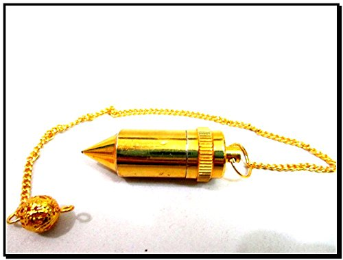 Brilliant Bullet Brass Plated Pendulum Healing Dowsing A++ Metal Reiki Results