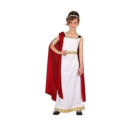 Atosa-6614 Disfraz Romana Color Blanco 10 a 12 años (6614