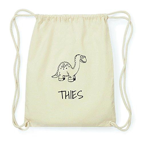 JOllipets THIES Hipster Turnbeutel Tasche Rucksack aus Baumwolle Design: Dinosaurier Dino