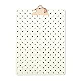 Kate Spade Clipboard, On the Dot, Black/Cream (175858)