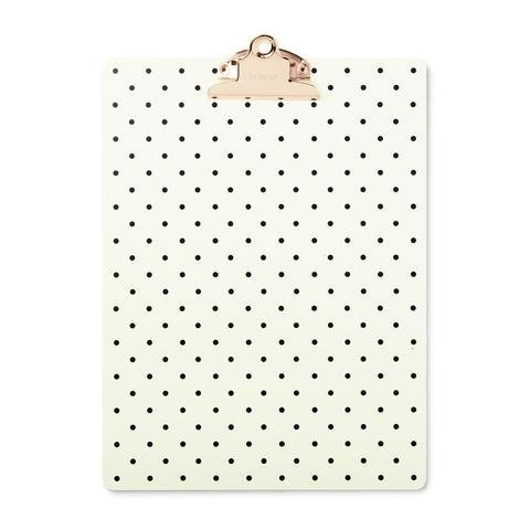 Kate Spade Clipboard, On the Dot, Black/Cream (175858)