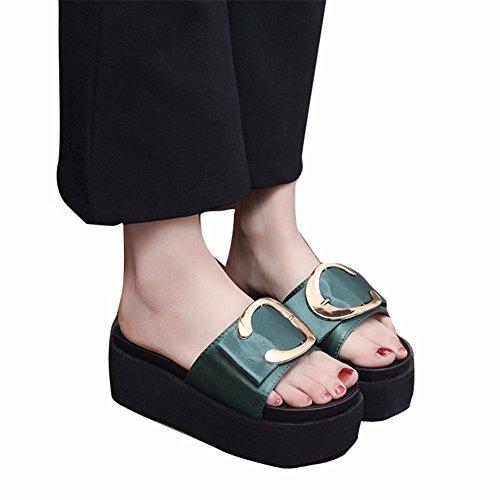 Sable des des Plages Avec Plage Sandales de Chaussons green de Ladies' YUCH Avec D'Épaisseur qPSFT