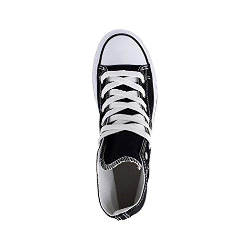 Scarpe High Uomo Scarpe Sport Tessile Unisex Sneaker e Per Comodo Donna Kult Schwarz Top 2 Elara Basic wxXOqBv0x
