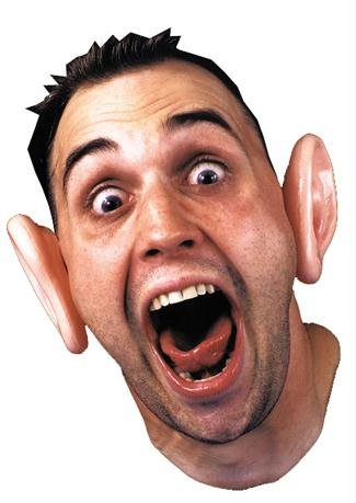 Jumbo Smurf Ears Clown Costume Accessory Big Funny -