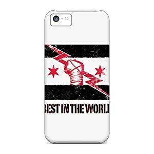 Awesome Cm Punk Flip Case With Fashion Design For Iphone 5c