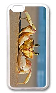 MOKSHOP Adorable Crab on Beach Soft Case Protective Shell Cell Phone Cover For Apple Iphone 6 Plus (5.5 Inch) - TPU Transparent