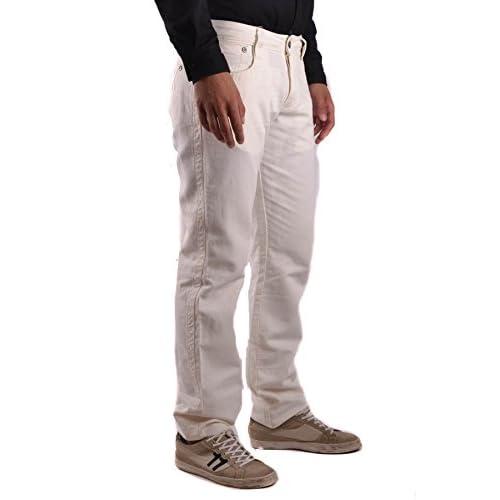 cheap Bikkembergs Hombre MCBI042107O Blanco Algodon Jeans - test ... 5b462bf5b11d1