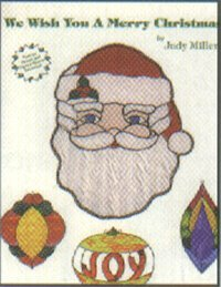 WE WISH YOU A MERRY CHRISTMAS Stained Glass Pattern Book