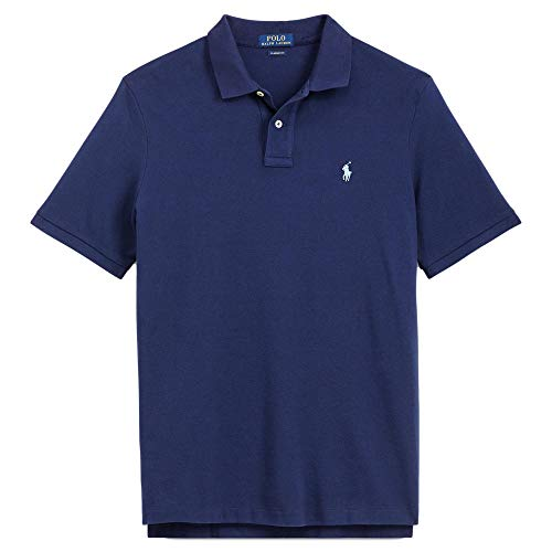 - Polo Ralph Lauren Men Custom Fit Mesh Pony Logo Shirt (XXL, BasicNavy)