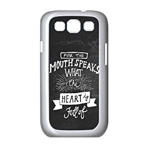 Samsung Galaxy S3 9300 Cell Phone Case White_Mouth Speaks Hpeuf