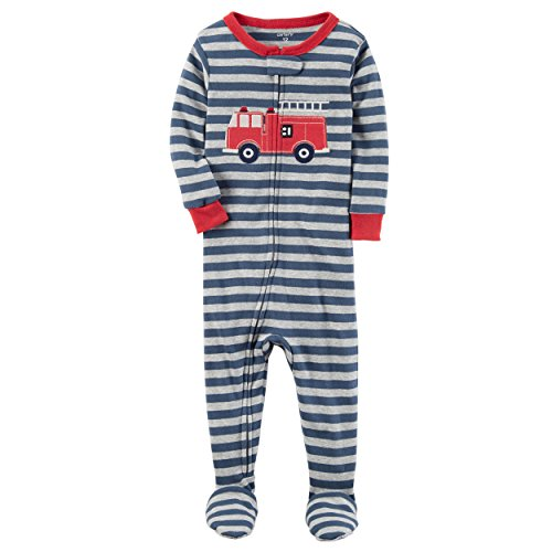 Carter's Boys' 12M-5T One Piece Firetruck Print Cotton Pajamas 3T