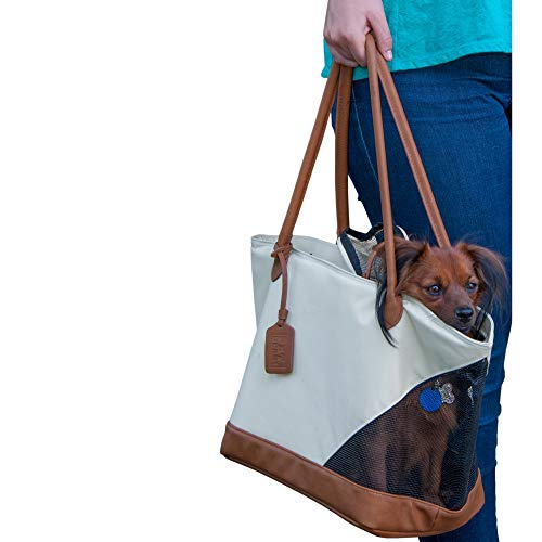 Pet Gear Tote Bag Carrier for Cats/Dogs, Storage Pocket, Removable Washable Liner, Zippered Top and Mesh Windows from Pet Gear