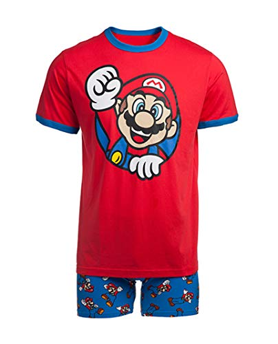 (Nintendo Men's Video Game Boxer Brief Underwear and T-Shirt Set, Mario, X-Large)