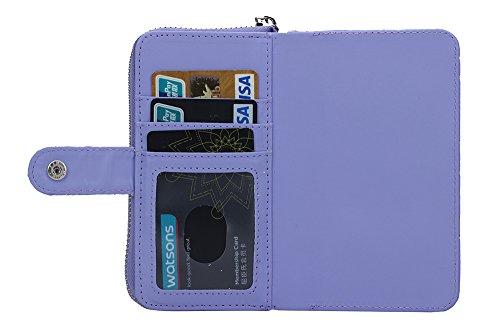 ubsma- Étui portefeuille sac à main de haute qualité avec Motif Diamant Pour Apple iPhone 6[Fonction Split]