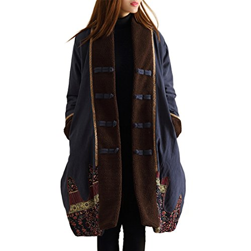 LZJN Women Trench Coat Chinese Traditional Style ()