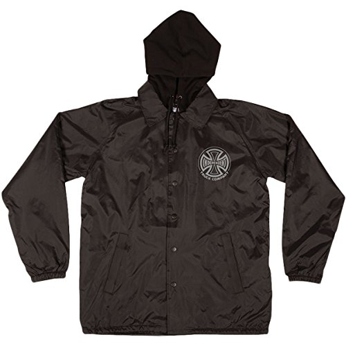 Independent Mens Foil Truck Co  Hooded Windbreaker Jackets X Large Black