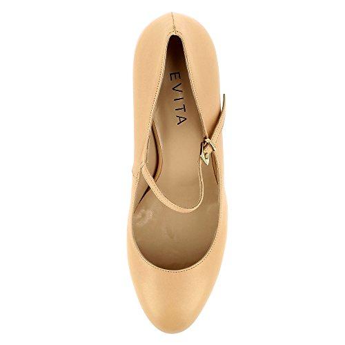 Col Bianca Shoes Scarpe Tacco Evita Champagner Donna xP6RqUT0T