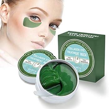 Vanelc Collagen Eye Mask-with Under Eye Patches, Dark Circles Under Eye Treatment, Under Eye Bags Treatment, Natural Eye Mask for Puffy Eyes, Anti-Wrinkle,Deep-Moisturizing, Gel Pads 30 Pairs
