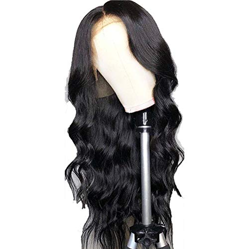 135 Lace Front Human Hair Wigs Pre Plucked Hairline Body Wave Lace Frontal Wig with Baby Hair for Women Remy,Natural Color,16inches,220 density -