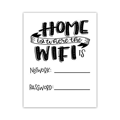 """Home is Where the WiFi is"" Cardstock Print 8.5x11"