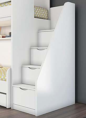 kinderhochbett treppe. Black Bedroom Furniture Sets. Home Design Ideas