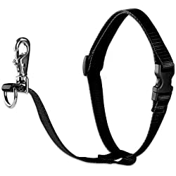 "LupinePet Basics 3/4"" Black 16-26"" No Pull Harness for Small-Medium Dogs"