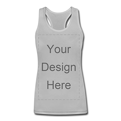 Add Image Text to Custom Personal Cotton Basic Ribbed Tank Top for Women Men