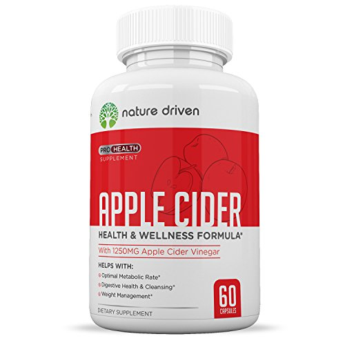 Apple Cider Vinegar Capsules :: for Weight Loss, Detox & Digestion :: All-Natural Formula :: Promotes A Healthy Metabolism :: One Month Supply :: Nature Driven
