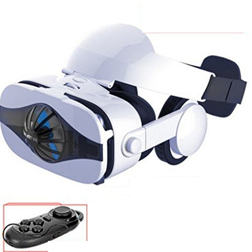 With Eye Protection VR Headset 3D Glasses 360 HD Immersive Virtual Reality Helmet, Video Game Controller 4K No Particles VR Machine, 3D Display Smart Glasses Iphone Samsung Home Theater Fan Machine,Ha
