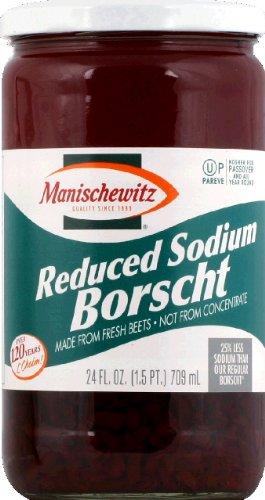 Manischewitz Reduced Sodium Borscht, 24 Ounce - 12 per case.