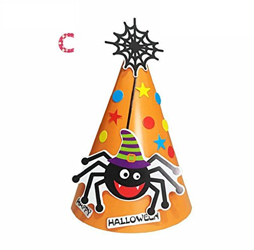 Kids Halloween Hat, DKmagic 1Pcs DIY Halloween Paper Cartoon Cap Child Child Halloween Ornament Hatn (Diy Old Lady Halloween Costume)
