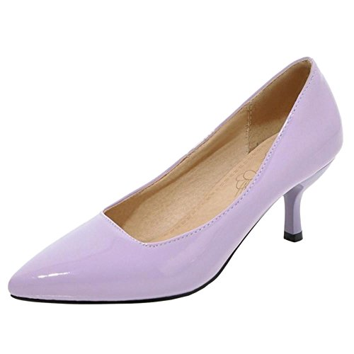 Court Heel Purple Thin Coolcept Shoes Mujeres Formal wRIgAqU