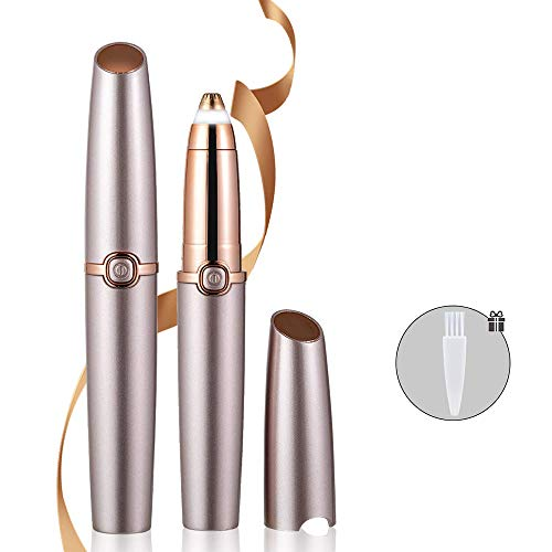 - MFSNY Brows Hair Remover Painless Trimmer for Women Portable Eyebrow Hair Removal Razor Electric Eyebrow Trimmer Tool,Without Battery
