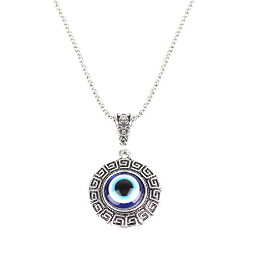 RagBear Evil Eye Necklace Meaning Greece Jewelry Greek Necklaces for Women Circle (Necklace Greek Evil Eye)