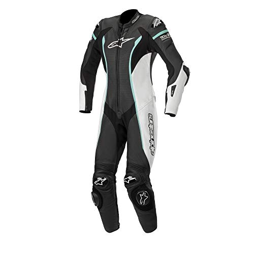Alpinestars Stella Missile Leather Motorcycle Riding Suit (Tech Air Compatible) (46, 1271-Black White ()