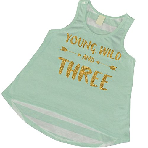 3rd Birthday Girl Outfit, Three Year Old Tank Top