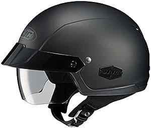 HJC Solid IS-Cruiser Half (1/2) Shell Motorcycle Helmet - Matte Black / Large